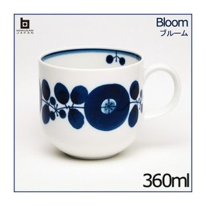 白山陶器 ブルーム  マグカップ 360ml リース /HAKUSAN/はくさん/和陶器/洋食器/有田焼/波佐見焼/HASAMI|livingwell-de