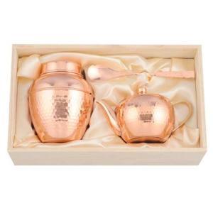 アサヒ 和〜なごみ 純銅茶器3点セット CB551 桐箱入 made in Tsubame メイド・イン・ツバメ認定商品|livingwell-de