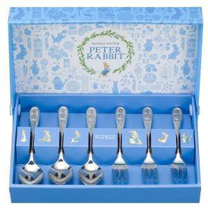 ピーターラビット カトラリーセット ティースプーン&ケーキフォーク 6本セット CU0142 日本製 結婚祝い livingwell-de