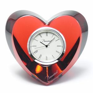 バカラ Baccarat ハート クロック 時計 ルビー 2-105-439 結婚祝い 敬老の日 livingwell-de