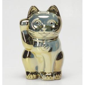 バカラ Baccarat 置物 招き猫 ゴールド 2-612-997 livingwell-de