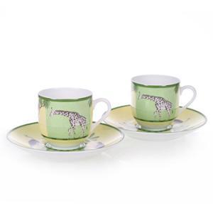 エルメス HERMES  アフリカ ペア コーヒー カップ&ソーサー Coffee C/S (Cup and Saucer) 3217|livingwell-de