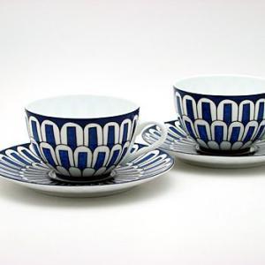 エルメス HERMES ブルーダイユールペア  ティー カップ&ソーサー Tea C/S (Cup and Saucer) 30016 結婚祝い 敬老の日|livingwell-de