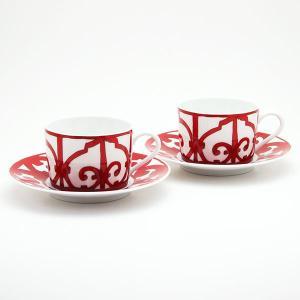 エルメス HERMES ガダルキヴィールペア  ティー カップ&ソーサー Tea C/S (Cup and Saucer) 11016|livingwell-de