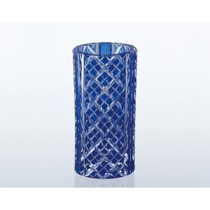 《名入れグラス》代引不可 送料無料 新築御祝 カガミクリスタル 江戸切子 花瓶 F672-1844-CCB  【レリーフ・エッチング】|livingwell-de