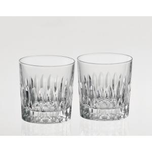 《名入れグラス》代引不可 送料無料 結婚御祝 カガミクリスタル ペア ロックグラス TPS769-2760  【レリーフ・エッチング】|livingwell-de