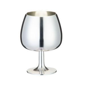 大阪錫器 洋酒器 ワインカップ ブランデーカップ bgr 215ml 桐箱入り|livingwell-de