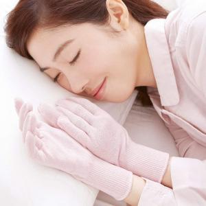 メール便送料無料 セルヴァン やさしいシルク混おやすみ手袋(1双組)肌面 シルクでやさしく保湿|lizelize