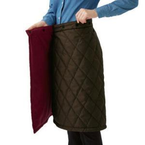 中綿キルトリバーシブル巻きスカート |lizelize