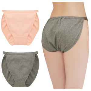 綿100%ゆるリラ解放感ショーツ2色組 杢グレー&ピンク ふんどしパンツ  ふんどしショーツ リンパショーツ  女性用 リンパ開放 3Lあります|lizelize