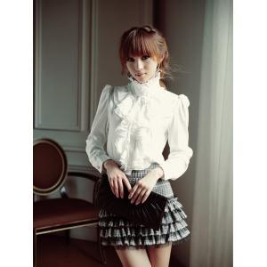 レディース ファッション フリル襟 ブラウス シャツ フリル...
