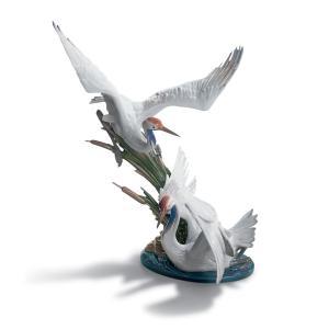 Lladro (リヤドロ) 鶴 つる ツル 鳥 とり トリ 動物 丹頂鶴 「瑞兆 #1456」 lladro-daisuki
