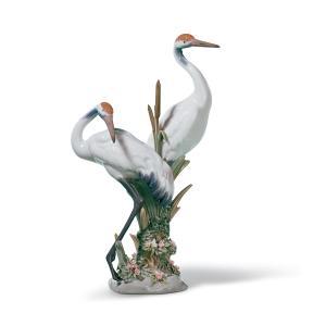 Lladro (リヤドロ) 鶴 つる ツル 鳥 とり トリ 動物 カップル 「求愛するツル #1611」 lladro-daisuki