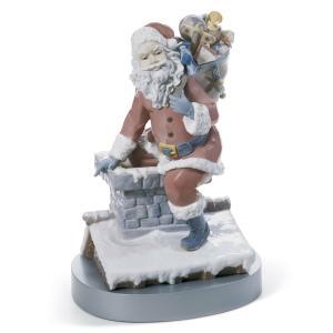 Lladro (リヤドロ) クリスマス サンタクロース 贈物 プレゼント     「煙突を下って #1931」 lladro-daisuki
