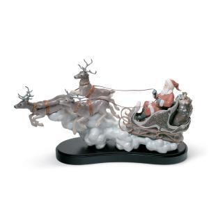 Lladro (リヤドロ) クリスマス サンタクロース 贈物 プレゼント     「良い子のもとへ #1938」 lladro-daisuki