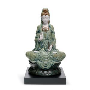 Lladro (リヤドロ) 観音菩薩 仏教 宗教      「観音様(慈愛) 緑 #1941」|lladro-daisuki