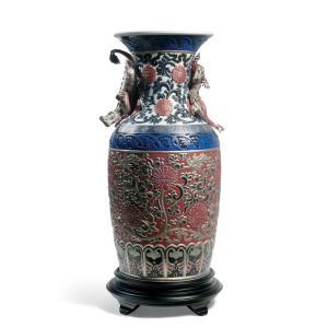Lladro (リヤドロ) 花瓶 ベース 東洋 日本 伝統    「オリエンタルドラゴン花瓶(赤) #1954」|lladro-daisuki