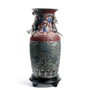 Lladro (リヤドロ) 花瓶 ベース 東洋 日本 伝統    「オリエンタルドラゴン花瓶(青) #1955」|lladro-daisuki