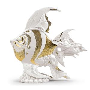 Lladro (リヤドロ) 魚 さかな サカナ 熱帯魚 観賞    「エンゼルフィッシュ #2011」 lladro-daisuki