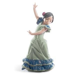 Lladro (リヤドロ) 少女 女児 フラメンコ スペイン 伝統    「リトルダンサー・ロリータ #5192」|lladro-daisuki