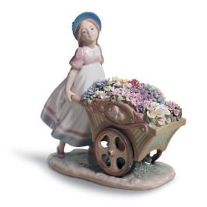 Lladro (リヤドロ) 少女 子供 女性 春 花 お花   「かわいいお花屋さん #6521」|lladro-daisuki