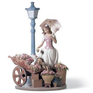 Lladro (リヤドロ) 女性 花 お花 ハナ 鳥 とり トリ 動物 「花の街角 #6809」|lladro-daisuki