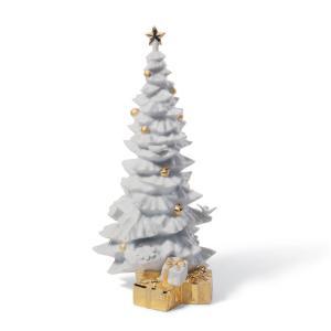 Lladro (リヤドロ) キリスト教 クリスマスツリー 雪 スノウ 飾り付け    「クリスマスの贈りもの(RE-DECO) #7089」 lladro-daisuki