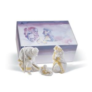 Lladro (リヤドロ) 宗教 キリスト教 クリスマス 聖家族     「聖なる夜 ギフトセット(RE-DECO) #7095」 lladro-daisuki