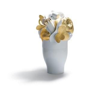 Lladro (リヤドロ) 花瓶 ベース テーブルウェア      「希望の花(ゴールド) #7903」|lladro-daisuki