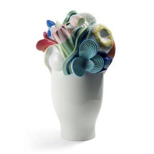 Lladro (リヤドロ) 花瓶 ベース テーブルウェア      「希望の花 (マルチカラー) #7916」|lladro-daisuki