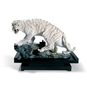 Lladro (リヤドロ) 虎 トラ とら タイガー 動物 日本 伝統  「白虎 #8562」|lladro-daisuki