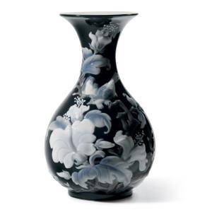 Lladro (リヤドロ) 花瓶 ベース 雀 スズメ 鳥    「花瓶・すずめ(ブラック) #8726」|lladro-daisuki
