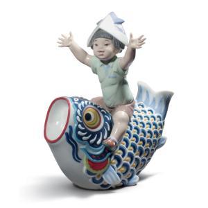 Lladro (リヤドロ) 五月人形 端午の節句 こどもの日 男子     「鯉のぼり #8775」 lladro-daisuki