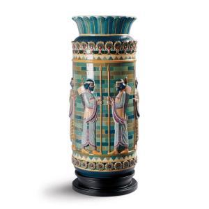 Lladro (リヤドロ) 花瓶 ベース 古代 エジプト     「射手の帯状彫刻花瓶 #8778」|lladro-daisuki