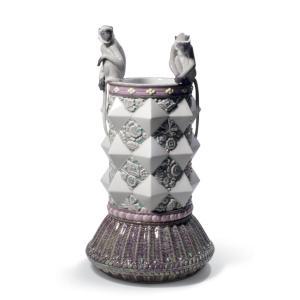 Lladro (リヤドロ) 花瓶 ベース 猿 サル     「モンキー・ベース(猿・申・ピンク) #9012」|lladro-daisuki