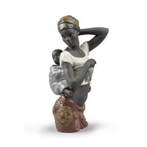 Lladro (リヤドロ) アフリカ 民族 母親 親子     「アフリカン・ボンド #9159」|lladro-daisuki