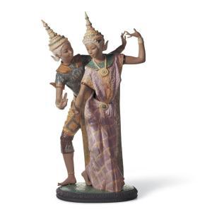 Lladro (リヤドロ) 民族舞踊 ダンス 女性 タイランド     「タイの踊り娘 #12058」|lladro-daisuki