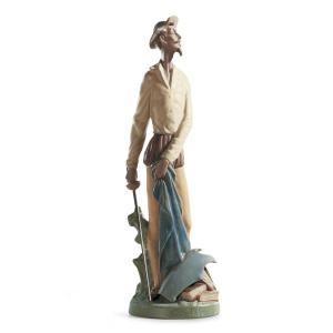 Lladro (リヤドロ) ドンキホーテ 童話 スペイン 伝統 男性    「立ち上がるキホーテ(グレス) #12265」|lladro-daisuki
