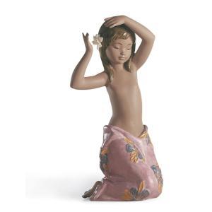 Lladro (リヤドロ) 少女 女性 ヌード 熱帯     「南国の花 #12385」|lladro-daisuki