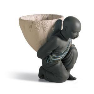 Lladro (リヤドロ) 修行僧 中国 東洋 ポプリ アクセサリ    「小物入れ(ブラック・グレス) #12493」|lladro-daisuki