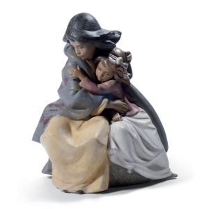 Lladro (リヤドロ) 姉妹 愛情 キリスト教 クリスマス     「お姉ちゃんと一緒(グレス) #12539」|lladro-daisuki