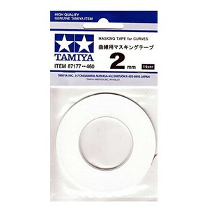 タミヤ 曲線用マスキングテープ 2mm 【ポスト投函便可】【87177】|llhat