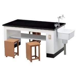 ハセガワ  1/12可動フィギア用アクセサリー  理科室の机と椅子 【FA04】|llhat