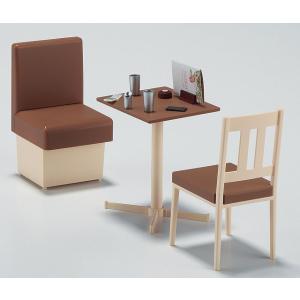 ハセガワ 1/12可動フィギア用アクセサリー  ファミレスのテーブルと椅子【FA07】 llhat