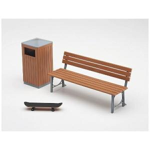 ハセガワ 1/12 可動フィギア用アクセサリー  公園のベンチとゴミ箱 【FA10】|llhat