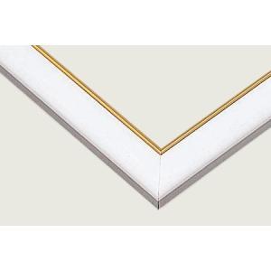 ゴールドモール木製パネル49×35cm MP058<ホワイト> 【ゆうパケット不可】|llhat