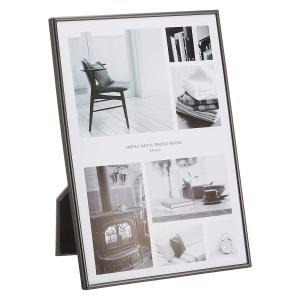FUJICOLOR (フジカラー) メタルフォトスタンド 1704 A4 ブラック / 写真立て アルミ|locadesign