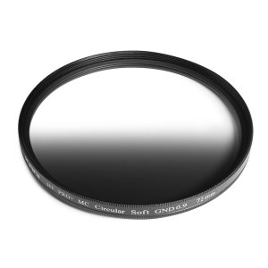 KANI ハーフND8フィルター ソフトGND 0.9 72mm / ハーフND8  (減光効果 3絞り分) レンズフィルター 丸枠|locadesign