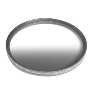 KANI ハーフND8フィルター ソフトGND 0.9 77mm / ハーフND8  (減光効果 3絞り分) レンズフィルター 丸枠|locadesign
