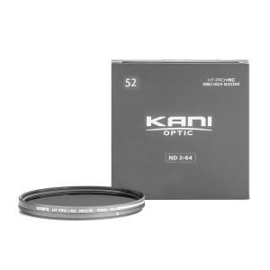KANI 可変NDフィルター バリアブルND2-64 52mm (減光効果 1-5絞り分) / レンズフィルター 丸枠|locadesign